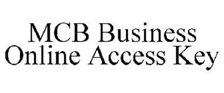 MCB BUSINESS ONLINE ACCESS KEY