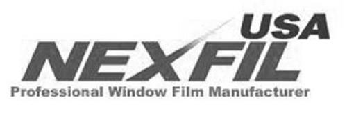 USA NEXFIL PROFESSIONAL WINDOW FILM MANUFACTURER
