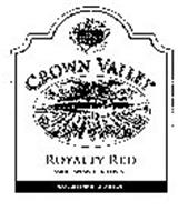 CV CROWN VALLEY ROYALTY RED AMERICAN SWEET RED WINE 9.5% ALCOHOL BY VOLUME