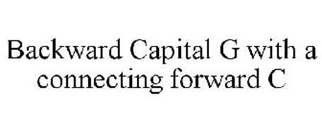 BACKWARD CAPITAL G WITH A CONNECTING FORWARD C