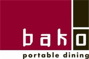 BAKO PORTABLE DINING