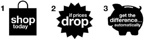 1 SHOP TODAY 2 IF PRICES DROP 3 GET THE DIFFERENCE...AUTOMATICALLY