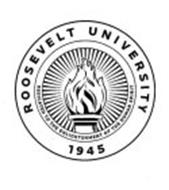 ROOSEVELT UNIVERSITY 1945 DEDICATED TO THE ENLIGHTENMENT OF THE HUMAN SPIRIT