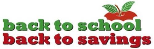 BACK TO SCHOOL BACK TO SAVINGS