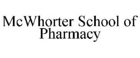 MCWHORTER SCHOOL OF PHARMACY