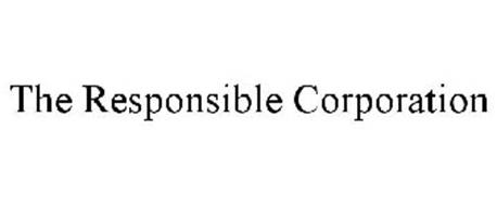 THE RESPONSIBLE CORPORATION