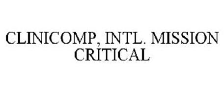 CLINICOMP, INTL. MISSION CRITICAL