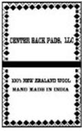 CENTER BACK PADS, LLC 100% NEW ZEALAND WOOL HAND MADE IN INDIA