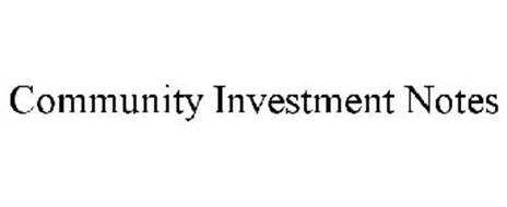 COMMUNITY INVESTMENT NOTES