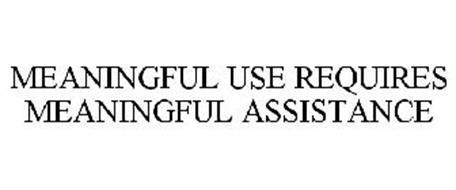 MEANINGFUL USE REQUIRES MEANINGFUL ASSISTANCE
