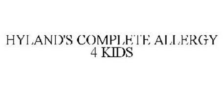 HYLAND'S COMPLETE ALLERGY 4 KIDS