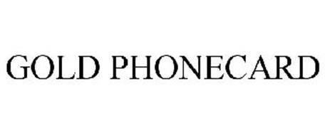 GOLD PHONECARD