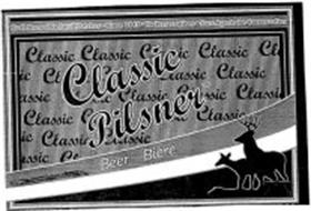 CLASSIC PILSNER BEER BIÈRE CRAFT BREWED IN SMALL BATCHES · SINCE 1845 · NO PRESERVATIVES · SANS AGENTS DE CONSERVATION