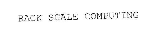RACK SCALE COMPUTING