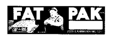 FAT PAK BRAND PRODUCT OF USA FAT PAK GROWER & PACKER, L. R. HAMILTON, INC. REEDLEY, CALIF REG. U. S. PAT. OFF.