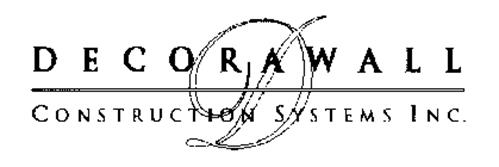 D DECORAWALL CONSTRUCTION SYSTEMS INC.