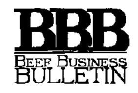 BBB BEEF BUSINESS BULLETIN