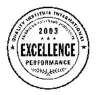 QUALITY INSTITUTE INTERNATIONAL AMERICAN CULINARY INSTITUTE 2003 EXCELLENCE PERFORMANCE