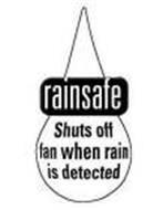 RAINSAFE SHUTS OFF FAN WHEN RAIN IS DETECTED