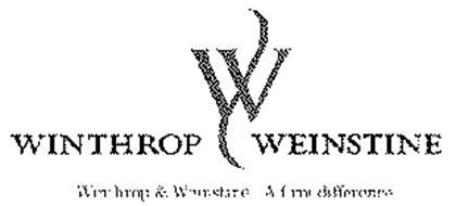 W WINTHROP WEINSTINE WINTHROP & WEINSTINE.  A FIRM DIFFERENCE.