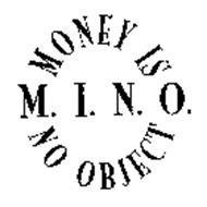 MINO MONEY IS NO OBJECT