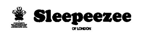 SLEEPEEZEE OF LONDON OF LONDON BY APPOINTMENT TO H.R.H. THE PRINCE OF WALES ROYAL WARRANT OF HIS ROYAL HIGHNESS THE PRINCE OF WALES