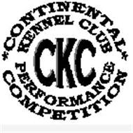 CONTINENTAL KENNEL CLUB PERFORMANCE COMPETITION