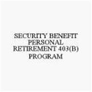 SECURITY BENEFIT PERSONAL RETIREMENT 403(B) PROGRAM