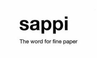 SAPPI THE WORD FOR FINE PAPER
