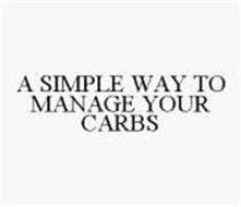 A SIMPLE WAY TO MANAGE YOUR CARBS