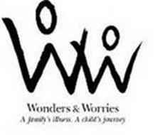 WW WONDERS & WORRIES A FAMILY'S ILLNESS. A CHILD'S JOURNEY