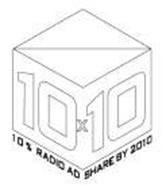 10X10 10% RADIO AD SHARE BY 2010