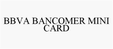 BBVA BANCOMER MINI CARD