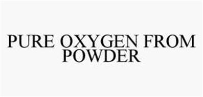 PURE OXYGEN FROM POWDER