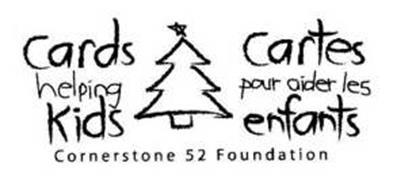 CARDS HELPING KIDS CARTES POUR AIDER LES ENFANTS CORNERSTONE 52 FOUNDATION