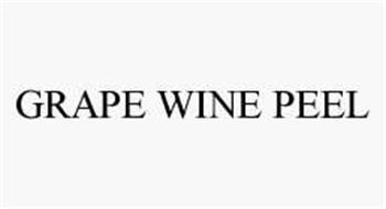 GRAPE WINE PEEL