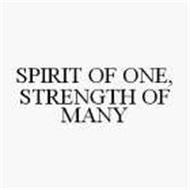 SPIRIT OF ONE, STRENGTH OF MANY