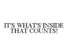 IT'S WHAT'S INSIDE THAT COUNTS!