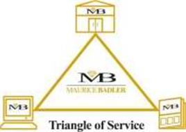 MB MAURICE BADLER TRIANGLE OF SERVICE