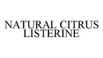 NATURAL CITRUS LISTERINE