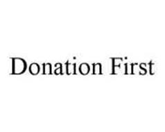 DONATION FIRST