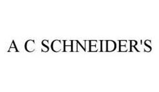 A C SCHNEIDER'S