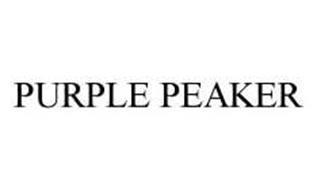PURPLE PEAKER