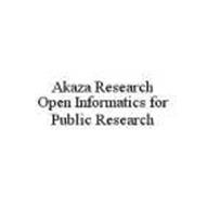 AKAZA RESEARCH OPEN INFORMATICS FOR PUBLIC RESEARCH