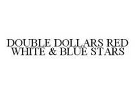DOUBLE DOLLARS RED WHITE & BLUE STARS
