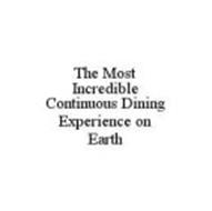 THE MOST INCREDIBLE CONTINUOUS DINING EXPERIENCE ON EARTH