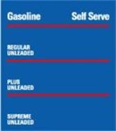 GASOLINE SELF SERVE REGULAR UNLEADED PLUS UNLEADED SUPREME UNLEADED