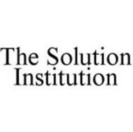 THE SOLUTION INSTITUTION