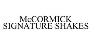 MCCORMICK SIGNATURE SHAKES