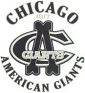 CHICAGO 1917 CA GIANTS AMERICAN GIANTS
